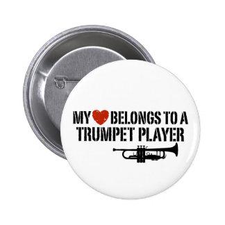 My Heart Trumpet Player 2 Inch Round Button