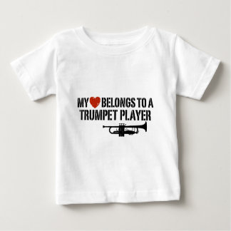 My Heart Trumpet Player Baby T-Shirt