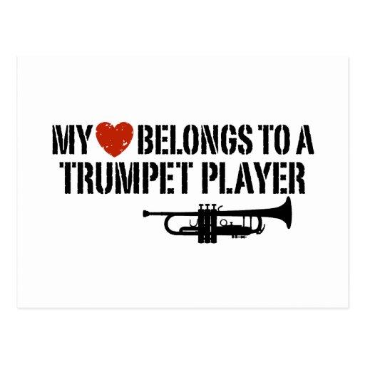 My Heart Trumpet Player Postcard