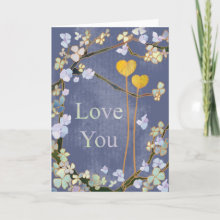 My Heart & Your Heart are always together, surrounded by flowers! : Love You card