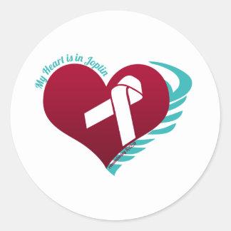My Heart's In Joplin Classic Round Sticker