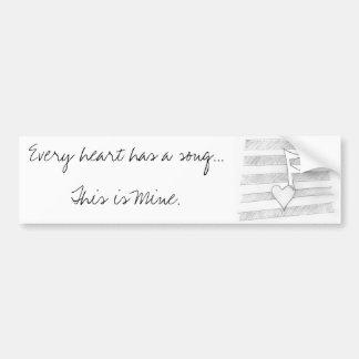 My Heart's Song bumper Sticker