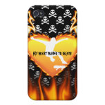 My heat burns to skate design case for iPhone 4