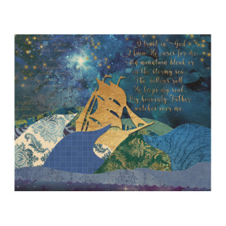 My Heavenly Father Watches Over Me Wood Wall Art