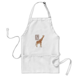 My Height Is My Best Feature Adult Apron