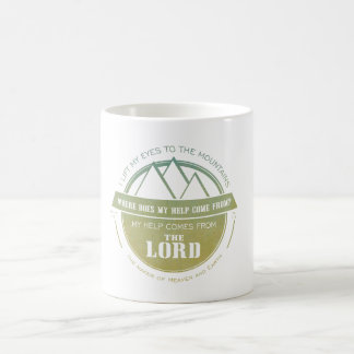 My help comes from the Lord, Green Logo Verse Coffee Mug