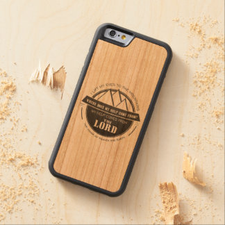 My help comes from the Lord, Mountain Logo Verse Carved® Cherry iPhone 6 Bumper Case