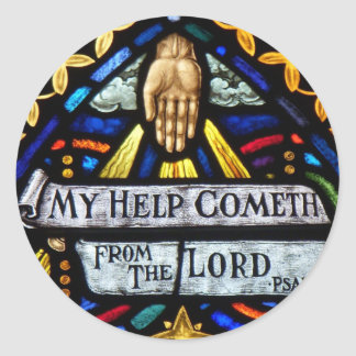 My Help Comes from the Lord Round Sticker