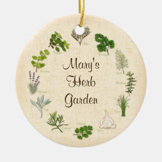 My Herb Garden Ceramic Ornament