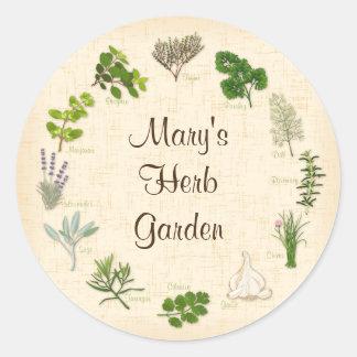 My Herb Garden Classic Round Sticker