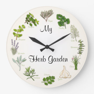 My Herb Garden Large Clock