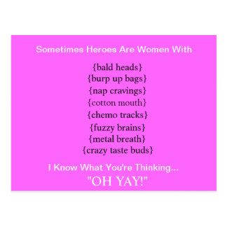 MY HERO Breast Cancer Postcard