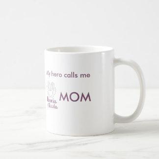 My hero calls me MOM Classic White Coffee Mug