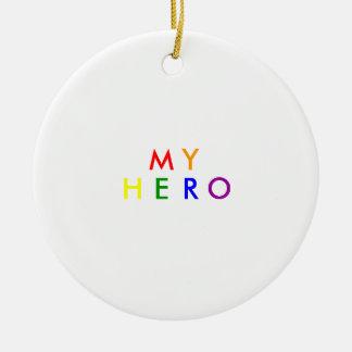 My Hero Ceramic Ornament