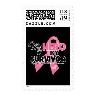My Hero is a Survivor - Breast Cancer Postage Stamp