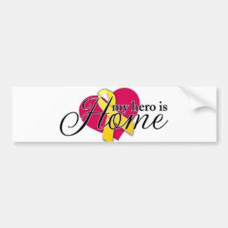 my hero is home car bumper sticker