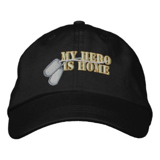 My Hero Is Home Embroidered Baseball Hat