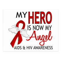 My Hero Is My Angel AIDS Postcard