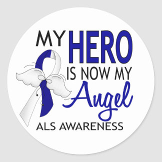 My Hero Is My Angel ALS Classic Round Sticker