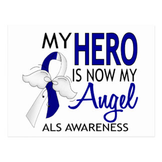 My Hero Is My Angel ALS Postcard