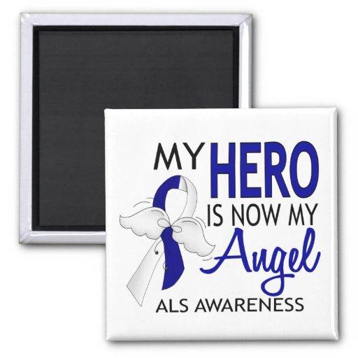My Hero Is My Angel ALS Refrigerator Magnets