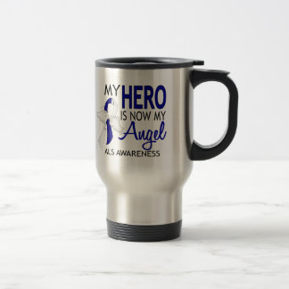My Hero Is My Angel ALS Travel Mug