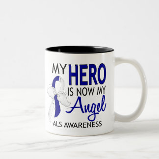 My Hero Is My Angel ALS Two-Tone Coffee Mug