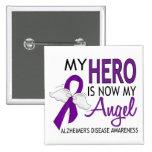 My Hero Is My Angel Alzheimer's Disease Button