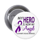 My Hero Is My Angel Alzheimer's Disease Pinback Buttons