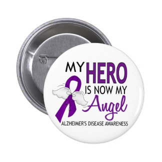 My Hero Is My Angel Alzheimer's Disease Pinback Buttons