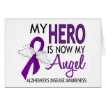 My Hero Is My Angel Alzheimer's Disease Greeting Card
