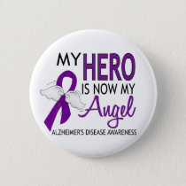 My Hero Is My Angel Alzheimer's Disease Pinback Button