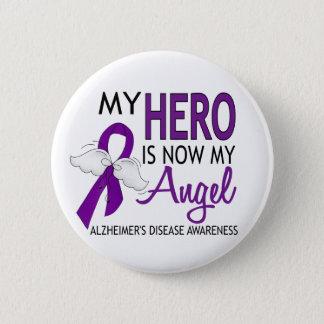 My Hero Is My Angel Alzheimer's Disease Pinback Button