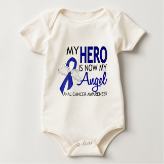 My Hero Is My Angel Anal Cancer Baby Bodysuit