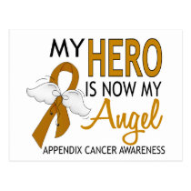My Hero Is My Angel Appendix Cancer Postcard