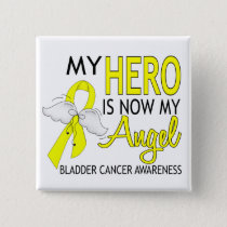 My Hero Is My Angel Bladder Cancer Pinback Button