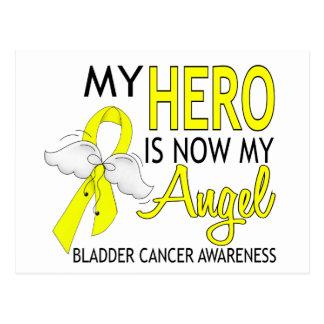 My Hero Is My Angel Bladder Cancer Postcard