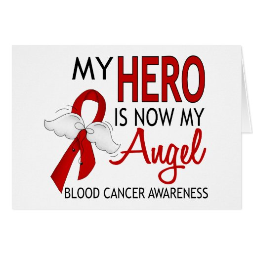 My Hero Is My Angel Blood Cancer Greeting Card