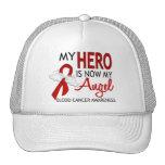 My Hero Is My Angel Blood Cancer Mesh Hats