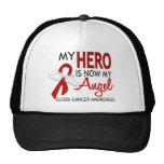 My Hero Is My Angel Blood Cancer Trucker Hats