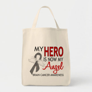 My Hero Is My Angel Brain Cancer Bag