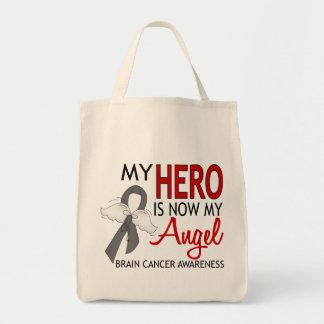 My Hero Is My Angel Brain Cancer Grocery Tote Bag