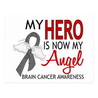 My Hero Is My Angel Brain Cancer Postcard