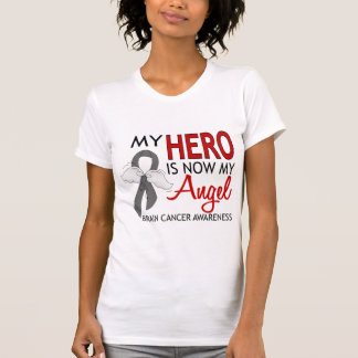 My Hero Is My Angel Brain Cancer Tee Shirt