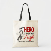 My Hero Is My Angel Brain Cancer Tote Bag