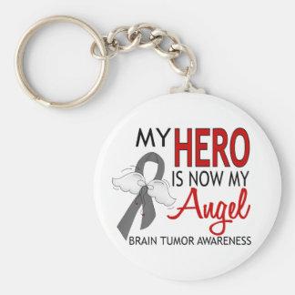 My Hero Is My Angel Brain Tumor Keychains