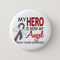 My Hero Is My Angel Brain Tumor Pinback Button