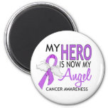 My Hero Is My Angel Cancer 2 Inch Round Magnet