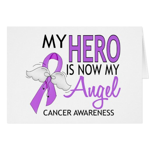 My Hero Is My Angel Cancer Card