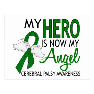My Hero Is My Angel Cerebral Palsy Postcard
